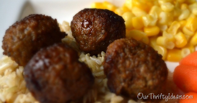 Our Thrifty Ideas: Crockpot Peachy Meatballs