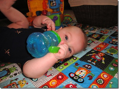3.  Sippy cup time