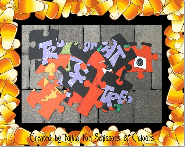 halloween puzzle in frame 1