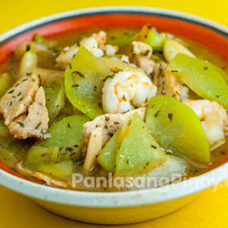 Sayote Guisado with Chicken and Shrimp