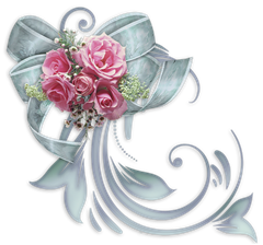 Bow with Roses Decorative Element