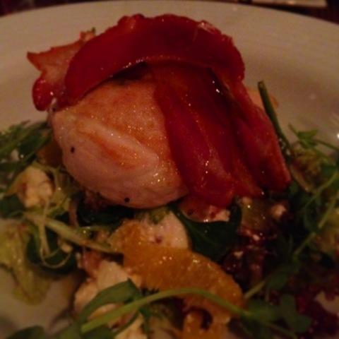 #362 - sage roasted chicken, feta and orange salad