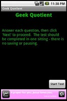 Screenshot of Geek Quotient Test