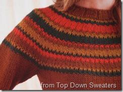 Top Down Sweaters Fibonacci stripes