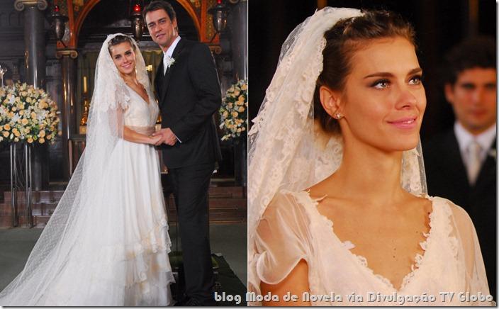 moda da novela passione - vestido de noiva da diana