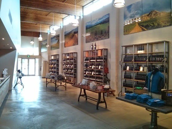 The entry hall of Sandhill's new tasting room and lounge