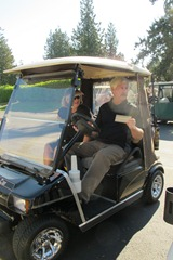 Team Meyer & MainTerry & Mike in Cart_Starting
