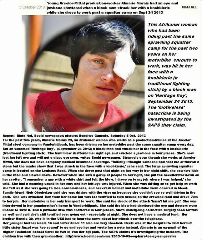 MaraisAlmarie23BlackManDestroysHerEyeJawboneWithBlowKnobkierieHeritageDay