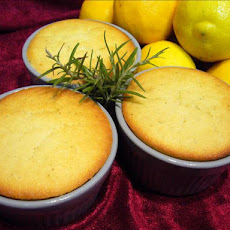 Rosemary-Lemon Custard Cakes
