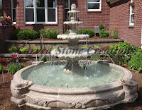 10' Cornucopia Fountain Pool Surround, Wild Rose