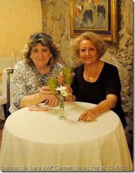 Dolores de Lara y Mª Carmen de las Heras 13-III-13