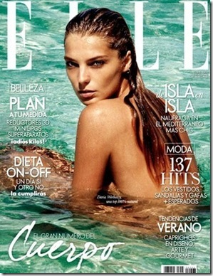 Elle Spain May 2011 Daria Werbowy cover