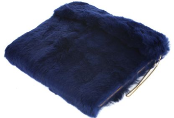 blue rabbit fur ipad case