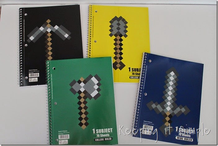 Minecraft Notebooks (10)