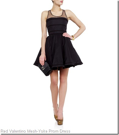 Red Valentino Mesh-Yoke Prom Dress