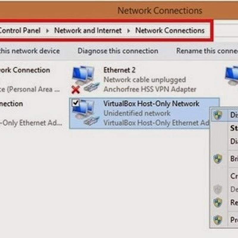 Cara Mengatasi Internet Limited Access Setelah Install VirtualBox