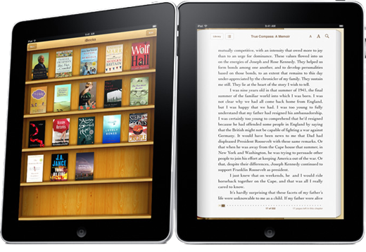 Apple iPad with books
