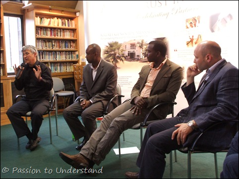 Carl Wilkens, Jean-Francois Gisimba, Freddy Mutanguha and James Smith