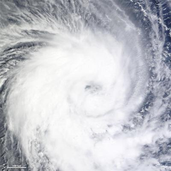 Tropical Cyclone Benilde in the Indian Ocean, December 2011. Image courtesy Goddard Space Flight Center