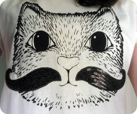 river island cat moustache top