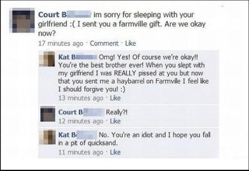 love among siblings.. and sarcasm.