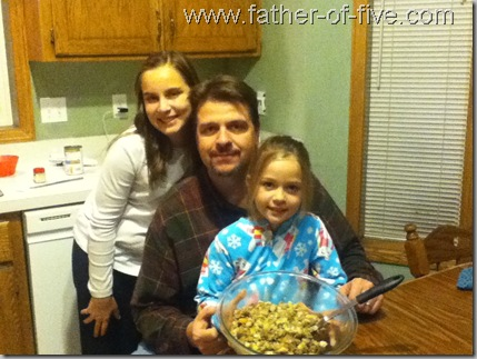 Father, Daughters, and White Castle Stuffing