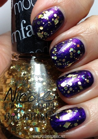 Nicole by OPI You're My Treasure over Aren't Families Grape