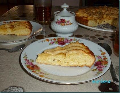 tarta brioche de manzana,racion copia