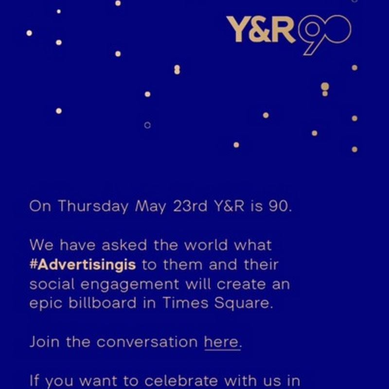 #advertisingis Y&R celebra sus 90 años con una instalación social media