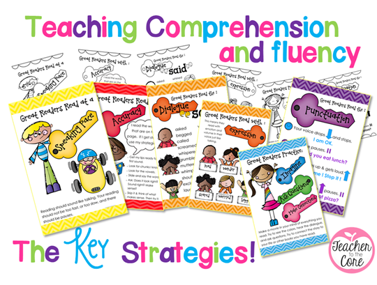 The Keys to Comprehension and Fluency- Cool posters!