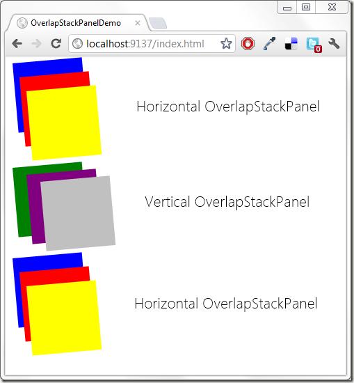 OverlapStackPanel