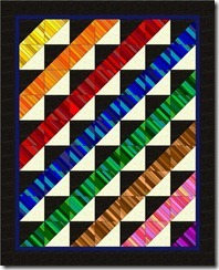 flutter rainbow stripes
