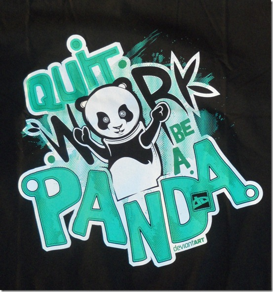 deviantart deviantwear devwear quit work be a panda cute art