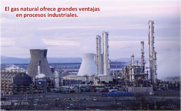 Uso del gas natural en la industria