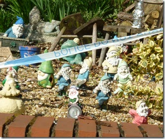 7 police tape on gnomes whittington