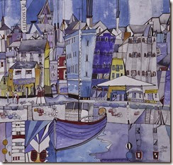 Harbour blue painting