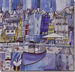 Harbour blue painting