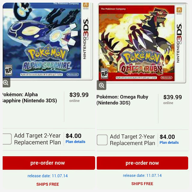 Target Pokemon Alpha Sapphire And Omega Ruby Release Date