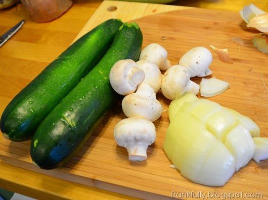 yum! veggies for mushroom zucchini soup