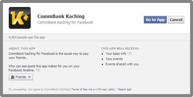 Authorising the Kaching app