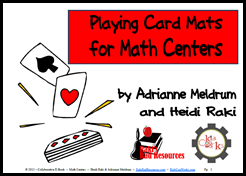 Free E-Book of Playing Card Mats for your Math Centers