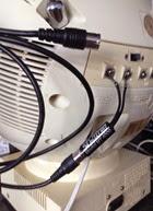 JVC Videosphere black and white television model 3241 back