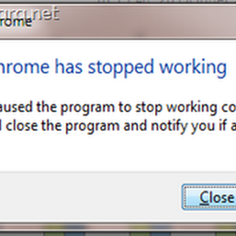 แก้ปัญหา Google Chrome has stopped working