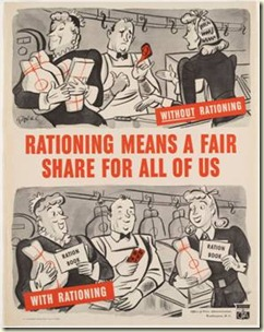 rationing poster 1940s WWII