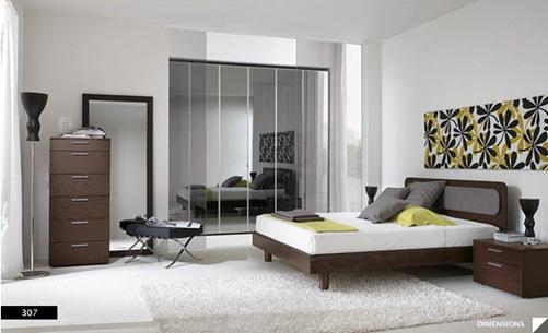 diseños de dormitorios modernos con paredes pintadas