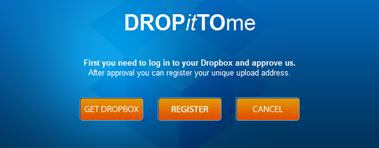 ส่งไฟล์ไปยัง dropbox โดยไม่ต้องใช้อีเมล์