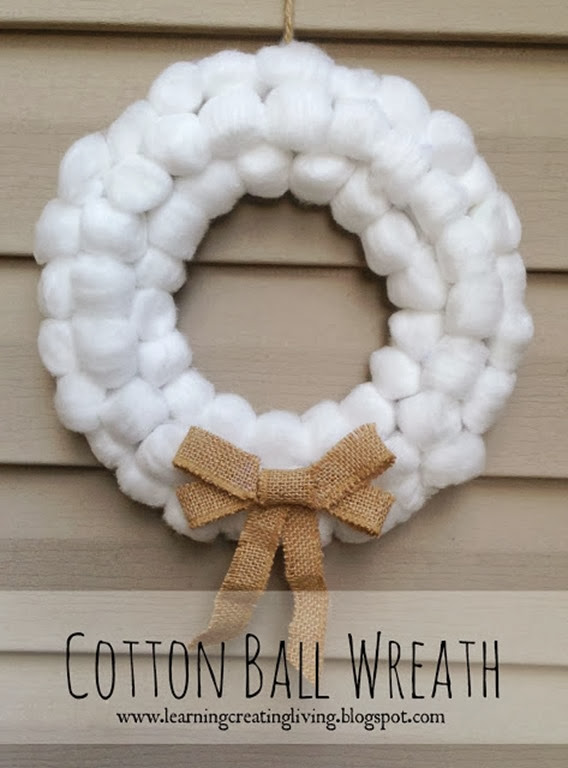 cottonball wreath