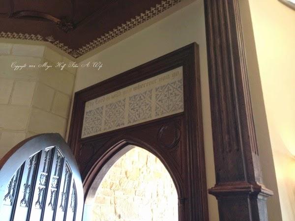 Verse over Front Door leaving house