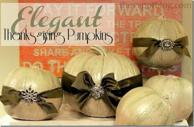 elegant thanksgiving pumpkins