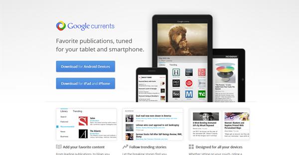 Google Currents: Paparan blog umpama majalah